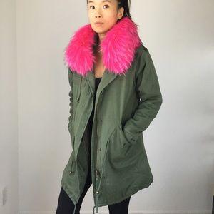 FAUX FUR parka jacket